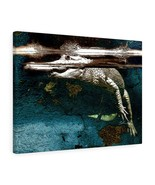 "White Alligator Canvas Artwork 24"" x 18"" Gallery Wrapped Giclée Print -B... - $69.99"