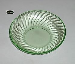 Spiral Green Bowl 5 1/2 Inch Berry Hocking - $18.95
