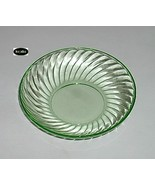 Spiral Green Bowl 5 1/2 Inch Berry Hocking - $18.95