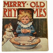 Merry Old Rhymes Thomas Nelson & Sons Book 1st Edition Color Plates Poem... - $39.59