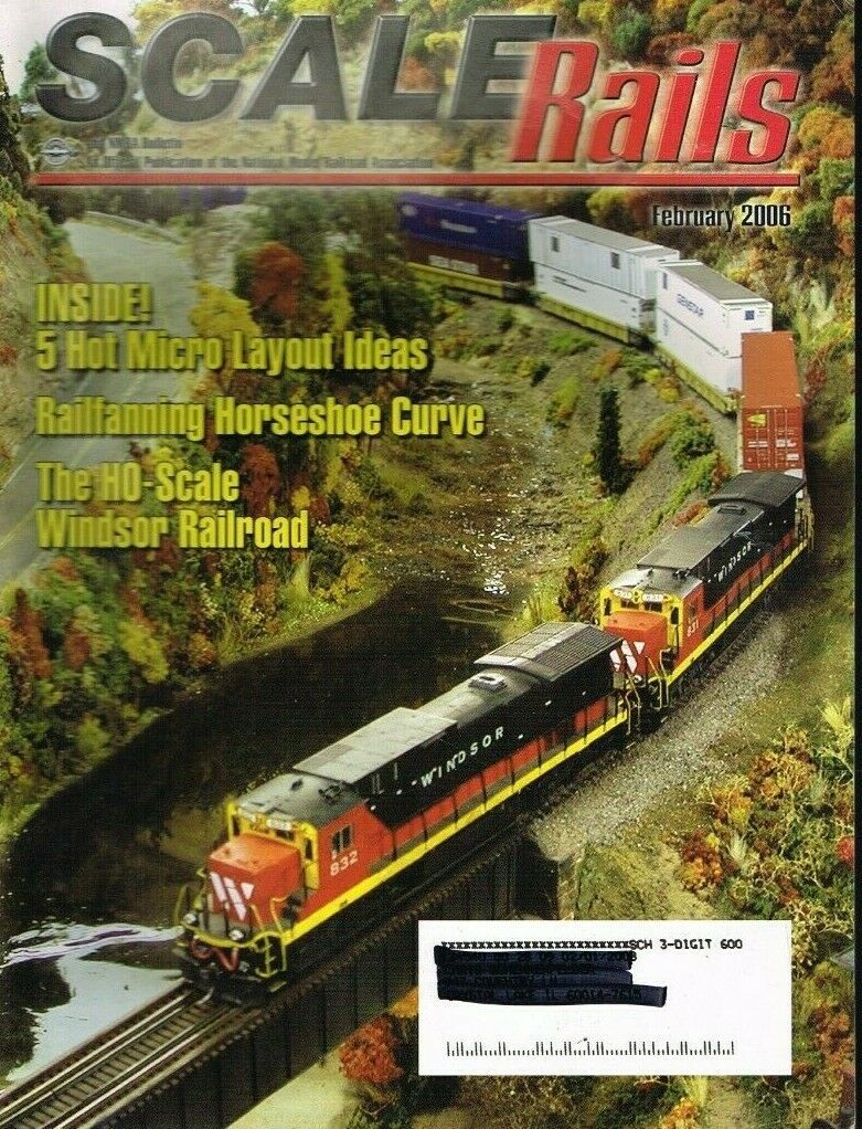 "Primary image for SCALE RAILS MAGAZINE - 2006 FEBRUARY - ""FIVE HOT MICRO LAYOUT IDEAS"" - USED"