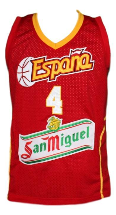 Pau gasol team spain espana basketball jersey red   1