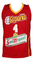 Pau Gasol Team Spain Espana Basketball Jersey New Sewn Red Any Size image 1