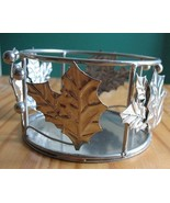 Illuminations Holly Leaf Pillar Candle Base Sil... - $5.00