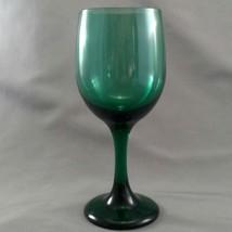 "Libbey Premiere Dark Green Wine Water Glass 7-1/8"" 11 oz Goblet - $9.50"