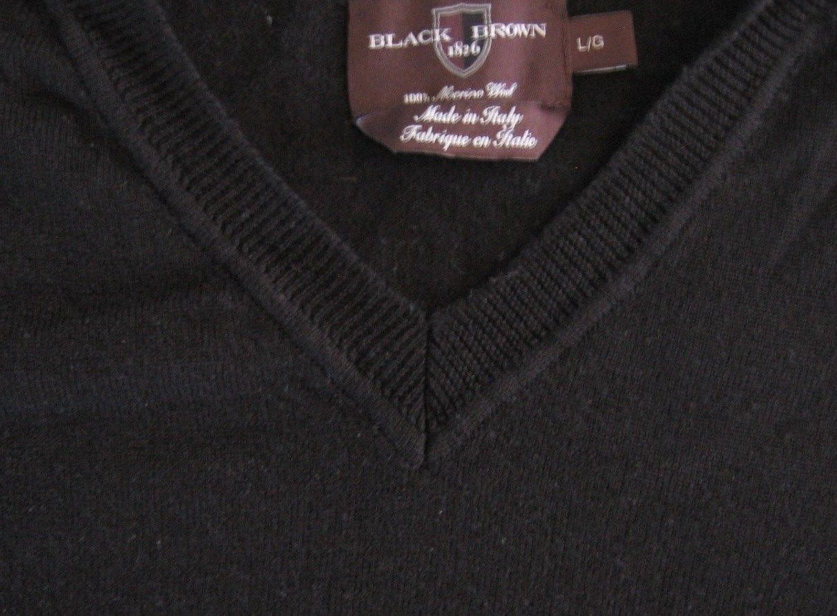 7abe68e6cba Black Brown 1826 Men s Wool Sweater Large L and 50 similar items. 57