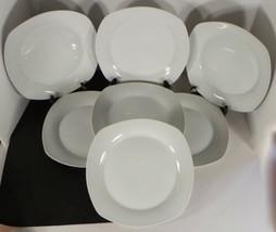 10 Ten Strawberry Street WHITE Dinner or Salad Plate (s) LOT OF 7 - $39.55