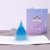 Crystal Castle--3D Greeting Card, Pop Up Card, Pop Out Card - $6.38