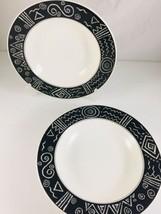 "MIKASA china STAR TRACK pattern bowl- Set of two (2) - 9 1/4"" CP006 - $19.99"