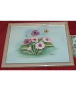 Floreale 38.1cm x 30.5cm Tela Pittura Art Mario Legno con Cornice da Fre... - $18.81