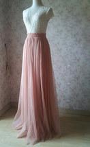 DEEP BLUSH Women Tulle Skirt Blush Floor Length Tulle Skirt Bridesmaid Skirt image 4