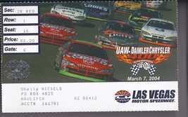 UAW-DAIMLER CHRYSLER 400 Ticket Stub Mar 7 2004 Las Vegas Motor Speedway - $5.95