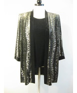 R & M Richards By Karen Kwong Velvet Faux Twinset NWT Size 8 - $38.00
