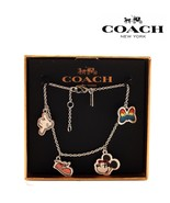 NWT COACH DISNEY Minnie Mouse Cute Bracelet Jewelry Gift Box Silver Mick... - $97.02