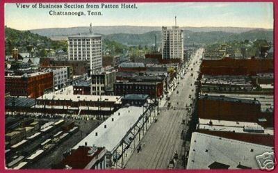 Primary image for CHATTANOOGA TENNESSEE Business Section Street TN NICE