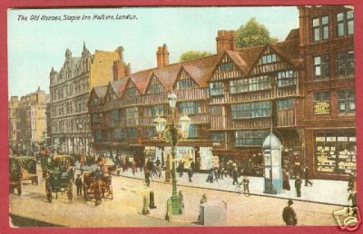 Holborn London Staple Inn Old Houses Postcard BJs