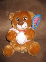 "BASEBALL BEAR RED STRIPES NEW PLUSH Stuffed Animal Tags 10"" SUGAR LOAF T... - $7.99"
