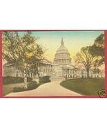 WASHINGTON DC Capitol Hand Colored Postcard HC BJs - $10.00