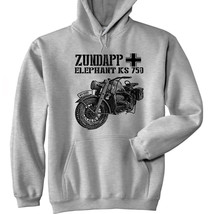 Zundapp Elephant Ks 750 - New Cotton Grey Hoodie - All Sizes In Stock - $40.38