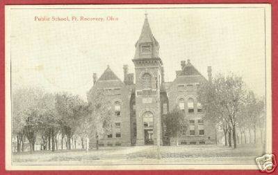 Ft Recovery Ohio Public School 1917 Postcard BJs