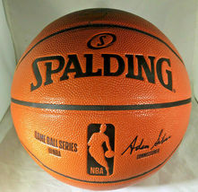STEPH CURRY & KLAY THOMPSON / DUAL AUTOGRAPHED NBA LOGO FULL SIZE BASKETBALL COA image 4