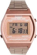 Casio Women's B640WC-5AEF Retro Digital Watch (Rose Gold) - $214.36 CAD