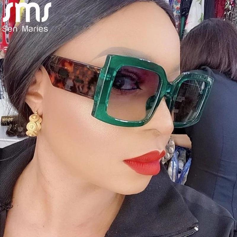Nglasses women men oversized rectangle retro brand designer sun glasses female male eyewear punk