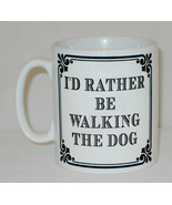 I'd Rather Be Walking The Dog Mug Can Personalise Funny Animal Dog Lover... - $9.23