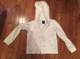 GAP KIDS fleece sherpa HOODY teddy COAT jacket M (8) EUC winter Ivory Ho... - $12.18