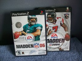 2 GAME DISC Madden 2004 and Madden 06 PS2 - $9.95