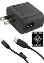 MOTOROLA MICRO USB OEM TRAVEL CHARGER COMBO SPN5504A - $9.99