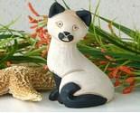 Vintage Artesania Rinconada Siamese Cat Kitten Figurine Uruguay Signed