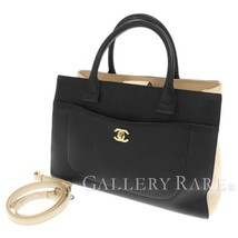 CHANEL Neo Executive Calf Black Ivory A69930 Handbag France Authentic 54... - $2,473.81
