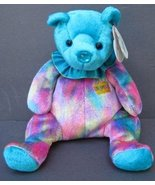 "7"" TURQUOISE Birthday Bear December TY Beanie Babies 2001 MT Plush Stuffed Anima - $9.97"