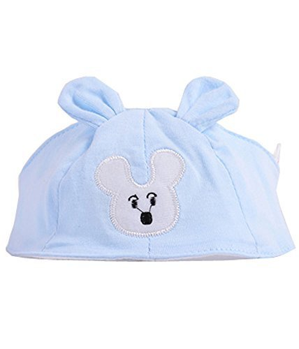 Summer Baby Hats/Caps Infant Bald Head Cotton Hats Light Blue Mice