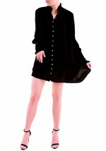 Free People Women's NBW Lieutenant Shirt Dress Black Size XS RRP £128 BCF74 - $118.08