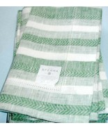 Sferra Ascot Linen Placemats Set of 6 Emerald Green Herringbone Stripe 1... - $45.90