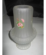 Courting Lamp - Flower Pattern with Frosted Glass Centerpiece Candle holder - $10.00