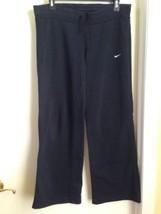 Nike Cotton Blend Black Track Sweatpants Athletic Straight Leg Pull On Pants S - $11.65