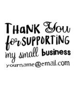 custom name Thank you for supporting our small business self inking stam... - $7.91