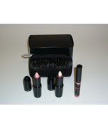 MAC Fringe 3 Pink Lipstick Lip Gloss set cosmetic bag - $29.99