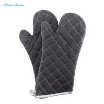 Oven Mitts Flame Retardant Mitts Heat Resistant to 425° F 15 Inch Black ... - $17.87
