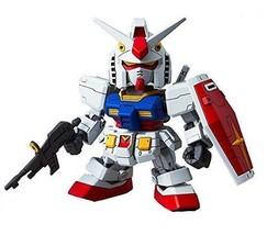 SD Gundam EX Standard RX-78-2 Gundam Coded Color Modeled Plastic Model - $24.03