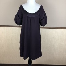 Anthropologie Maeve Size 6 Dress Dark Deep purple Short Sleeve A Line Shift - $15.80