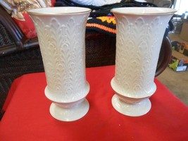 "Magnificent LENOX  Pair of VASES...9.75"" height - $35.84"