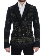 Black silk knight slim fit blazer - $1,551.60