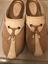 COLE HAAN Women's Flats Slip On Shoes White Beige Leather Size 6.5B - $18.69