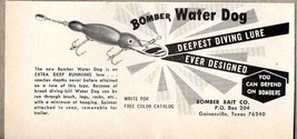 1970 Print Ad Bomber Bait Water Dog Fishing Lures Gainesville,TX - $8.55