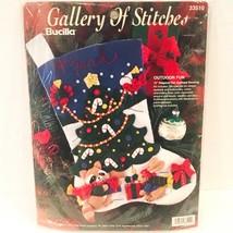 Bucilla Outdoor Fun Felt Christmas Holiday Stocking Kit 33510 Bunny Raccoon NEW - $35.00