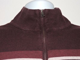 Banana Republic Mens Pullover Sweatshirt Sweater Plum Casual Large 1/4 z... - $18.25